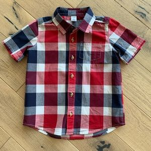 Red, White & Blue Button Up Shirt